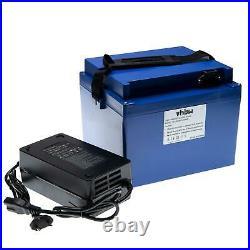 Batterie 20Ah / 72V + chargeur pour E-Roller, E-Bike, Bateau