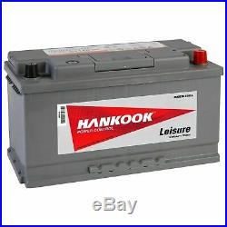 Batterie Décharge Lente Pour Bateau Caravane Camping Car 110AH 12V Hankook XV110