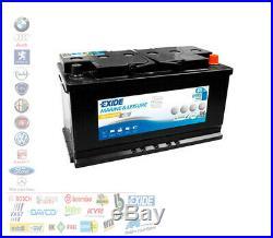 Batterie EXIDE ES900 Equipment Gel 80AH 900A Pour Services Bateaux Démarrage