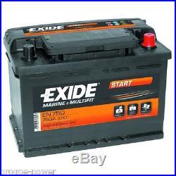 Batterie Marine Exide EN800 12v 90ah pour bateau, vehicule