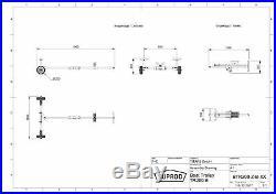 Chariot de mise à l'eau pour les petits bateaux, dériveur, annexe, SUPROD TR200