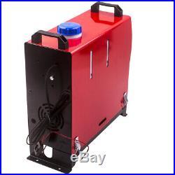 Chauffage à Air Diesel LCD Télécommande 5KW 12V pour Camion Bateau Bus 4 Trous