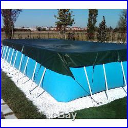 Couverture de bateau pour l'hiver 4,00 x 7,50 m piscine hors sol rectangulaire