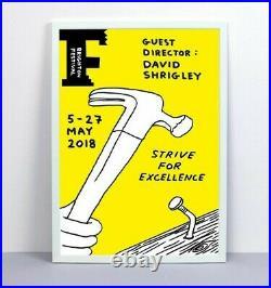 David Shrigley Imprimé Strive Pour Excellence Ed De 48 Signée Prêt À Bateau
