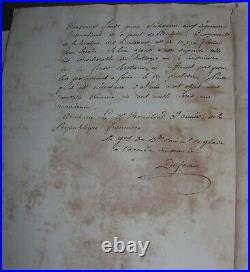 Dépenses du Général Dejean pour les Bateaux de fournitures Armée du Nord. 1794