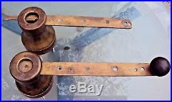 Deux anciens winch en bronze pour bateau voilier