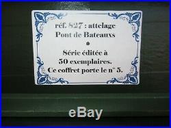 Diorama Lucotte Attelage De 4 Chevaux Pour Le Pont Et Bateaux Ed Limitee