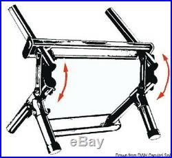 Echelle de Bain Bateau Inox 4 Niveaux Pliable 900mm Pour Fixation Arrière