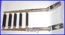 Echelle inox 316 Bateau 5 Marches Télescopique Marches Larges Pour Plate-forme
