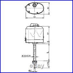 Essuie-Glace Moteur 12V 46 MM 85° pour Oldtimer Tracteurs Unimog Bateau M