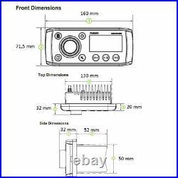 FUSION MS-RA55 Radio Étanche IPx5 Pour Bateaux Et Canots 010-01716-00