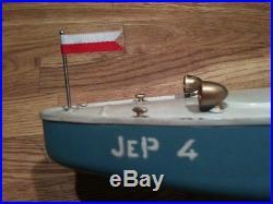 Fanion luxe pour les canots JEP 3 & JEP 4 Bateau boat pennant flag Red & White