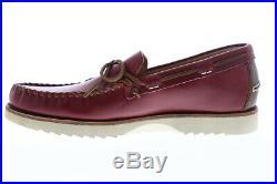Frye Nathan Tie chaussures bateau pour hommes en cuir rouge