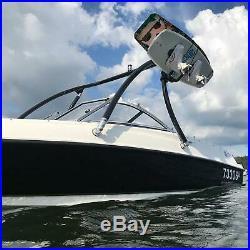 GALAXY Tour de wakeboard/ski nautique BOOST AIR pour bateau Noir