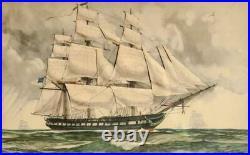 Gordon Grant, Grand Bateau De Ahoy Construction Livre Pour Fireside Marins, 3