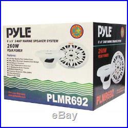 Haut-parleurs 6 X 9 Marine De Pyle Plmr692 260 Watts Rms 15 Pour 23 CM Bateau