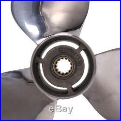 HéLice en Acier Inoxydable 11 3 / 8X12-G pour Moteur de Bateau Hors-Bord Yam 1i7