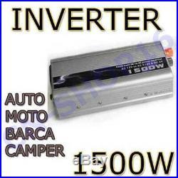 Inverter 1500w Transformateur Du Courant Pour Bateaux Camper 12v 220v
