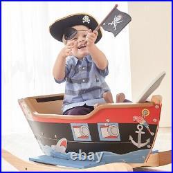 Jouet à bascule en bois bateau de pirate pour enfant garçon Teamson Kids