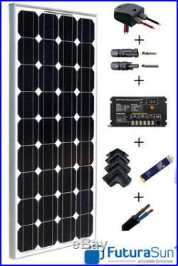 Kit panneau solaire 100W 12V pour camping car / bateau avec régulateur MPPT
