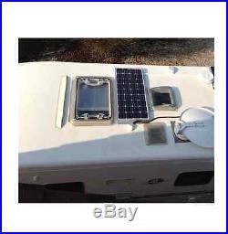 Kit panneau solaire 100w 12V monocristallin pour bateau+ regul + cablage