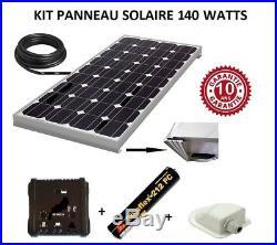 Kit panneau solaire 140 watts 12V monocristallin pour bateau