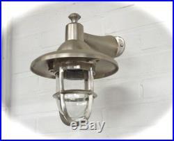 Lampe D'Extérieur de Haute Qualité Nickel Brossé, Bateau pour la Mur Maison M