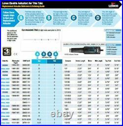 Lenco 15059-001 Bord Touche 102S Actionneur 12V Temps 4-1/4 Pour Ski-Tow Bateau