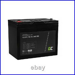 LiFePO4 Batterie BMS 50Ah 12.8V pour Caravane Camping Marine Bateau Solarpanel