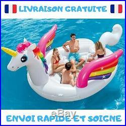 Licorne géante gonflable 5 m pour Piscine Plage Mer Été Fête Radeau Bateau