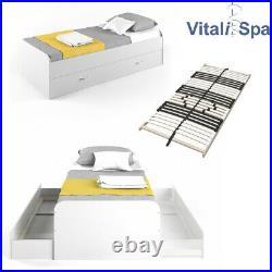 Lit pour enfant VITALISPA, lit bateau Enzo, lit pour adolescent, lit dappoint