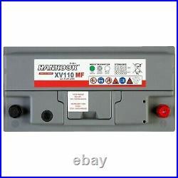 Lot 2 Batteries Loisirs110Ah 12V Décharge Lente Pour Caravane Camping Car Bateau