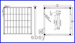 Module Solaire Mono 80 W 12 V Panneau Solaire Idéal pour Caravane Bateaux Jardin
