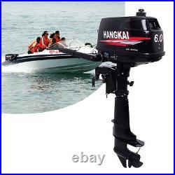 Moteur à Moteur Hors-Bord pour Bateaux 2 Temps 6 HP Inflatable Boat Engine 4.4KW