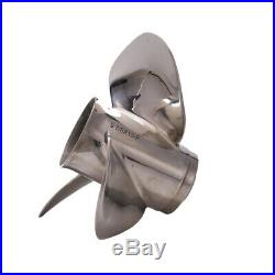 Moteur de Bateau en Acier Inoxydable Propeller 9 7 / 8X13-F pour Yamaha 20HP 1i7