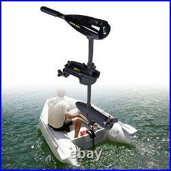 Moteur électrique Hors-Bord 58lbs pour bateau pneumatique Motor 12V Telescopic