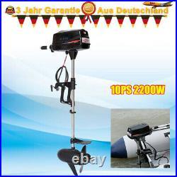 Moteur hors-bord électrique 10HP pour bateau de pêche gonflable 60V 2200W DHL