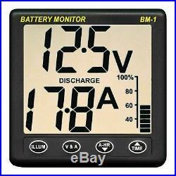 NASA Clipper BM1 24 Batterie Moniteur 24 Volts avec 5m CâblePour Les Bateaux &