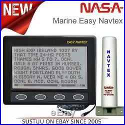 NASA Marine Clipper Facile Navtex Avec Série 2 Antenne & Câble 12V Pour Bateau