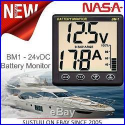 Nasa Clipper BM1 24 Batterie Moniteur 24 Volts Avec 5m Câble Pour Bateau &