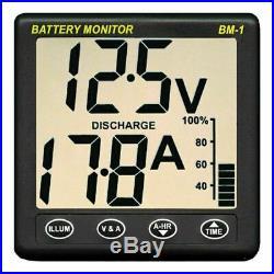 Nasa Clipper BM1 Batterie Moniteur 12 Volts avec 5m Câble pour Marine & Bateau