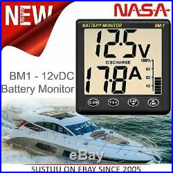 Nasa marine BM1 Clipper Batterie Moniteur 12VDC +5m Câble Inclus pour Bateau