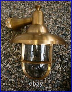 Nostalgie Borne, Lampe de Cuivre Pour Porte D'Entrée, Bateau, Scheepslamp XL