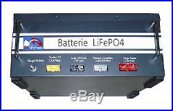 Pack Lithium LiFePO4 12V120Ah, BMS 100A pour caravan et bateau