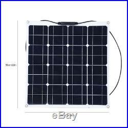 Panneau Solaire Chargeur pour Voiture Bateau Extérieur Haute Efficacité 12V 50W