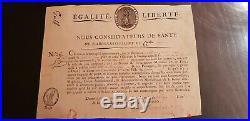 Passeport De Sante Pour Un Bateau A Calvi En Corse 1798