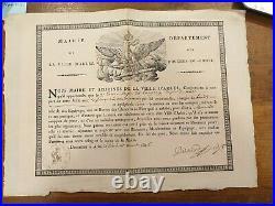 Patente De Sante Mairie D'arles Pour Un Bateau Pour Aller A Mareille 1806