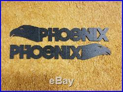 Phoenix Bateau Script Set De 2 Fabriqué Pour Bateaux En Les 1970s & 1980s