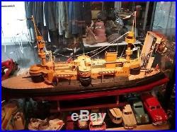 Pour ottca55 Grand Cuirassé 2ème 110 cm bâteau en tôle naviguant Bing, Marklin