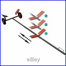 Remorque Chariot de Mise à l'Eau 320 cm 160 kg Pour Bateaux Canots Voiliers N6C6